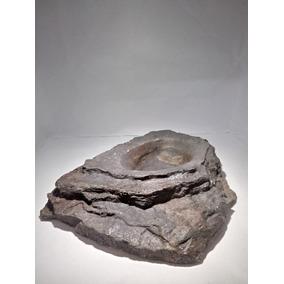 Bebedouro De Resina Tipo Pedra Para Répteis - Grande