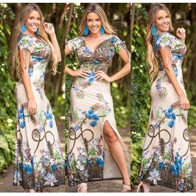 Vestido Feminino Estampado Viscolycra Roupas Fenininas
