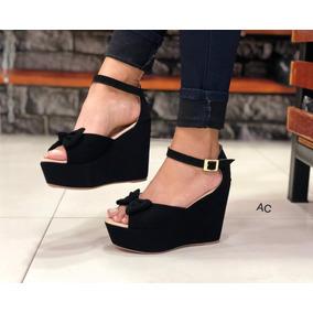 3fce1d91ba38a Sandalias Plataformas Negras - Sandalias para Mujer en Mercado Libre ...