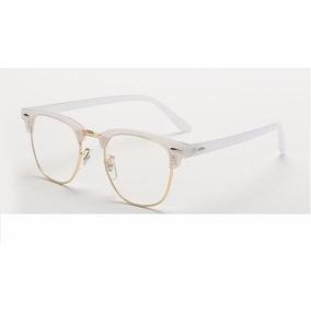 b5f09bbe2506a Armação De Grau Acetato E Metal Branca Frete Grátis - Óculos no ...