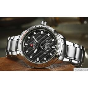 Relógio Masculino Prata Aço Super Diferente Naviforce