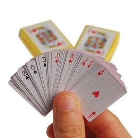 Kit 10 Mini Jogo De Baralho Cartas Poker 54 Cartas Truco Zap