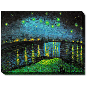 ec87bf55cb3cf3 Overstockart Van Gogh Starry Night Over The Rhone Painting W