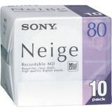 Sony Md80minidisc Neige 80minuto, 10unidades) Up Shop
