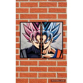 Kit 2 Poster Dragon Ball Goku Adesivado Prova Dágua Promoção