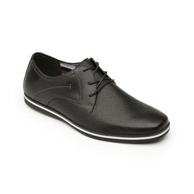 Calzado Zapato Flexi 58301 Negro Tan Casual Vestir Salir