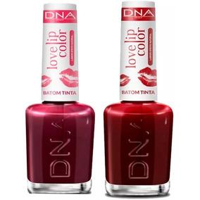 Kit 2 Batons Tinta Lip Color Dna 1 Love Red + 1 Love Cherry
