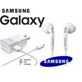 Combo Samsung Galaxy S4, S5, S6 Cargador Rápido Y Audífonos!