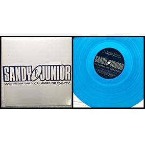 Vinil Lp Sandy E Junior Love Never Fails / Duplo / Azul Raro