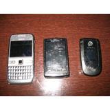 3 Celulares Antigos Nokia/samsung/sony - Aproveitar Peças