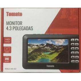 Mini Tv Digital Portátil Hd Tela 4.3 Com Radio Fm Tomate