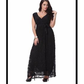 Vestido Plus Size Madrinha De Casamento Renda Elegante