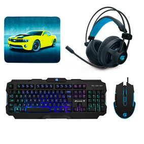 Kit Gamer Fortrek Headset H2 + Mouse M5 + Teclado K3 +brinde