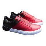 Tenis Zapatos De Hombre Bicolor Rojo Original Maxi