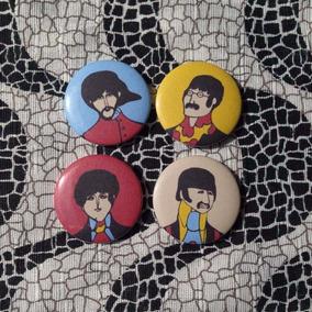 Kit 4 Ímãs De Geladeira / Magnético Com Tema Beatles