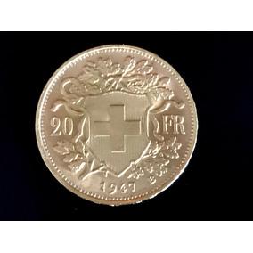 Moneda De Oro 22 Kts. 20 Francos Suizos