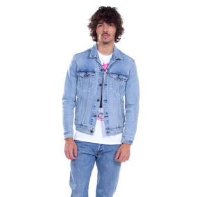 Jaqueta Levis Masculina Jeans The Trucker Azul Claro 3d32c9f0626