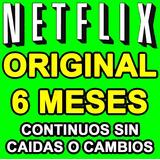 Cuente Netflix | 6 Months | Sin Caidas | Pagada Legalmente.