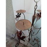 Porta Velas Rustico De Metal