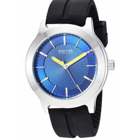 Reloj De Hombre Kenneth Cole Reaction Silicon Negro 46 Mm