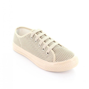 Tenis Para Mujer Dunlop E50cc-048886 Color Beige