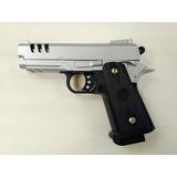 Pistola Airsoft Colt 1911 Punisher Silver , Metalica,resorte