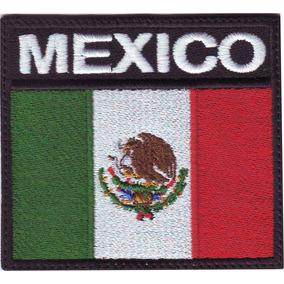 México Bandera Parche Bordado Escudo Militar V-lcro Ganchos