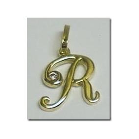 Pingente Placa Ouro Letra R - Pingentes de Ouro no Mercado Livre Brasil 67092dc351