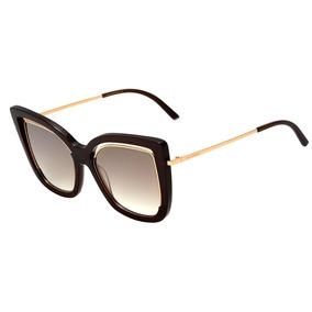 5cab12104f30a Ana Hickmann Ah 9264 - Óculos De Sol T02 Marrom Translúcido