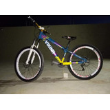 Bicicleta Vikingx Tuff 25 Aro 26 Azul-amarelo
