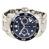 Reloj Invicta 0070 Pro Diver Collection Cronografo Plateado