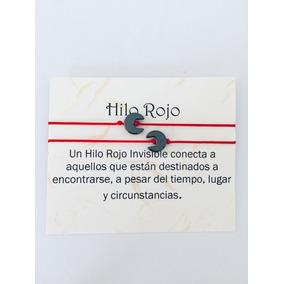 Pulsera Hilo Rojo Piedra Onix Pareja Mayoreo