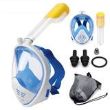 Máscara Snorkel Full Face Mergulho Easybreath Gopro Ação