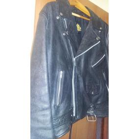 4424f53f2 Chaqueta De Cuero Con Cierres Negra Tipo Rockero Xxl