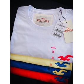 Kit 10 Camisetas Masculina Lisa Multimarcas  hollister eacd4ed6336b4