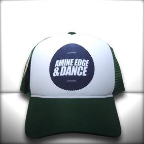 Boné Amine Edge   Dance Trucker Snapback Verde b90ca61ab16