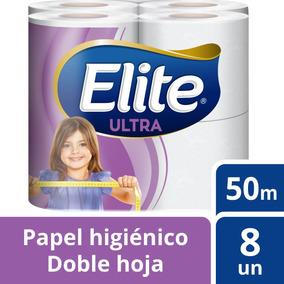 Papel Higiénico Elite 8u Doble Hoja Ultra 50m Tienda Elite