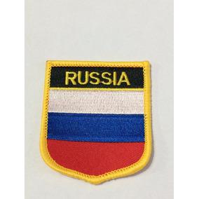 Patche Aplique Bordado Escudo Da Bandeira Da Rússia 6x7 Cm