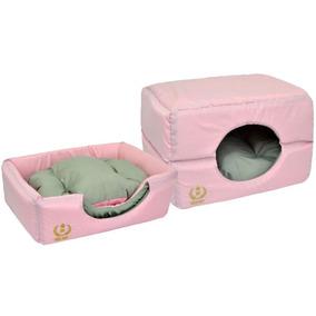 Cama Tunel Iglu Toca P/ Cães Cachorros Gatos Marrom P