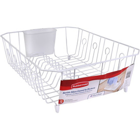 Escurridor De Platos Rubbermaid Antimicrobios Blanco 1 Nivel de088698d71f