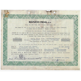 1972 Ação Ordinária E Preferencial Banco Real Sa