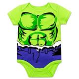 Marvel Hulk Body Para Bebe Niño 18 Meses Halloween Original e416b511d3a