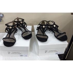 4e0af404246 Sandália Preta Couro Versace - Produto Original