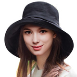 Nueva Playa De Sombrero De Mujer Verano Algodón Cubo Borde 50554c2149a