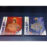 2 Cajas Custom Zelda Oracle Gameboy Color (solo Las Cajas)