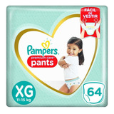 Fralda Pampers Premium Care Pants Top Tamanho Xg 64 Unidades