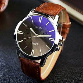 Kit 2 Relógio Masculino Luxo Casual Fashion Social