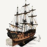 Modelo Montaje Del Perla Negra Esc 1:100 Jack Sparrow 32