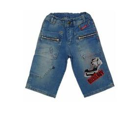Bermuda Masculina Infantil Jeans Hot Wheels