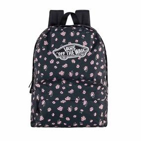 Mochila Backpack Original Vans Negro Flores Textil Xg855 A 88b22c240cd